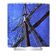 Ships Rigging - 2 Shower Curtain