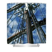 Ships Rigging Shower Curtain