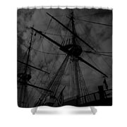 Ships Silhouette Shower Curtain