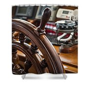 Ships Wheel Shower Curtain by Dale Kincaid