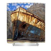 Shipwreck At Smugglers Cove Shower Curtain