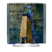 Shipwreck Point Lighthouse Shower Curtain