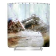 Shipwrecked Shower Curtain