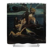 Shipwrecked Psyche Unfinished Shower Curtain