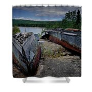 Shipwrecks At Neys Provincial Park No.3 Shower Curtain
