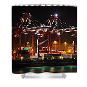 Shipyards  Callao Port Lima Peru Shower Curtain