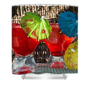 Shirley Temple Cocktail Shower Curtain