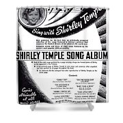Shirley Temple Song Album Shower Curtain