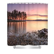 Shiroka Polyana Lake  Shower Curtain