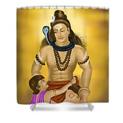 Shiva Family.  Shower Curtain