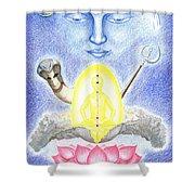 Shiva Shower Curtain by Keiko Katsuta