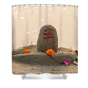 Shivling From Sand Shower Curtain