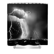 Shock Attack Shower Curtain