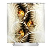 Shock Waves Shower Curtain