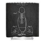 Shoe Eyelet Patent From 1905 - Charcoal Shower Curtain