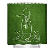 Shoe Eyelet Patent From 1905 - Green Shower Curtain
