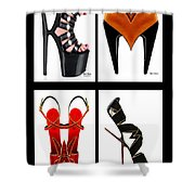 Shoe Love Quad Shower Curtain