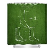 Shoes And Boots Crimping Board Patent From 1881 - Green Shower Curtain