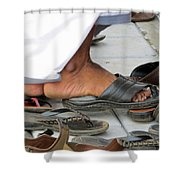 Shoes At The Door Shower Curtain