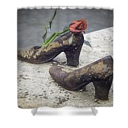 Shoes On The Danube Bank Shower Curtain