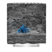 Shooting Glacier Shower Curtain by Camilla Brattemark