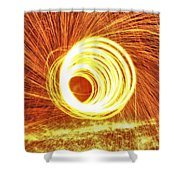 Shooting Sparks Shower Curtain