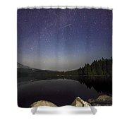 Shooting Star At Trillium Lake Shower Curtain