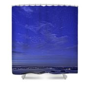 Shooting Star Over Bar Harbor Shower Curtain