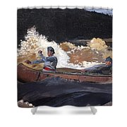 Shooting The Rapids Saguenay River Shower Curtain