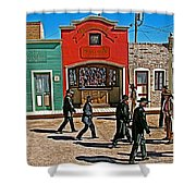 Shootout At The Ok Corral In Tombstone-arizona Shower Curtain