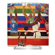 Shoots N Hoops Shower Curtain