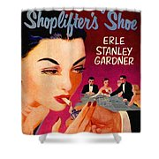Shoplifter's Shoe. Vintage Pulp Fiction Paperback Shower Curtain