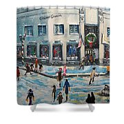 Shopping At Grover Cronin Shower Curtain by Rita Brown