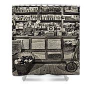 Shopping At The General Store Shower Curtain by Priscilla Burgers
