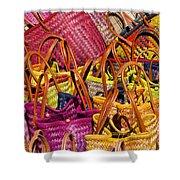 Shopping Baskets Shower Curtain