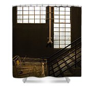 Shopping Cart Stairs At Window Shower Curtain