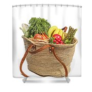 Shopping For Orrganic Fruit And Vegetables  Shower Curtain