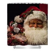Shopping Mall Santa Shower Curtain