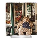 Shopping's A Bear Shower Curtain
