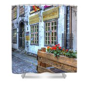 Shops And Flower Boxes Shower Curtain