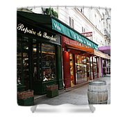 Shops On Rue Cler Shower Curtain