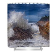 Shore Acre Storm Shower Curtain