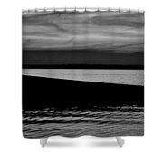 Shore Boat Bw Shower Curtain