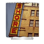Shore Building Sign - Coney Island Shower Curtain
