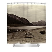Shore Of A Loch In The Scottish Highlands Shower Curtain