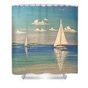 The Cays Shower Curtain