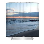 Shoreline  And Waves At Cape May Shower Curtain