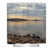 Shoreline At King's Mountain Point Shower Curtain