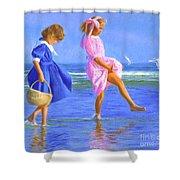 Shoreline Skippers Shower Curtain