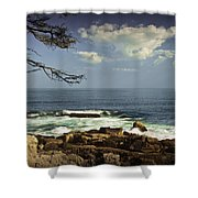 Shoreline View In Acadia National Park Shower Curtain